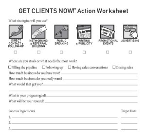 Get Clients Now! Worksheets