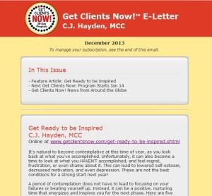 Get Clients Now! Eletter